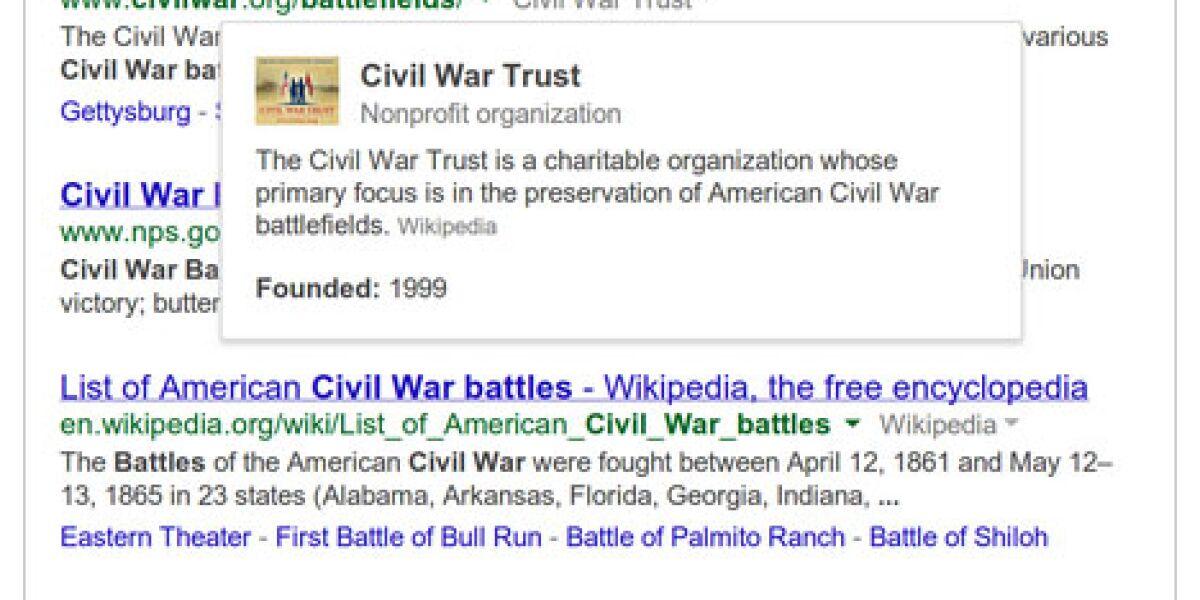 Googles Knowledge Graph kommt in die Suche