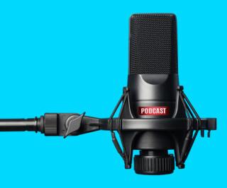 Podcast und Mikrofon
