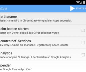CheapCast - Alle, die noch keinen Chromecast-Stick besitzen, sollten sich zunächst einmal CheapCast ansehen, denn mit dieser App wird das Smartphone zum Chromecast. Sie benötigen dazu lediglich ein MHL-fähiges Android-Smartphone sowie ein MHL-Kabel.