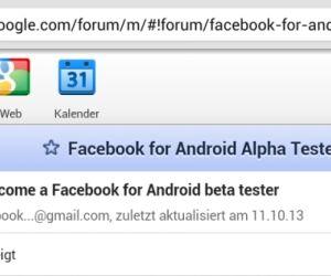 Alpha-Testern beitreten: Um bereits im Vorfeld Zugang zu der neuen Facebook-App zu erhalten, müssen Sie zunächst der Facebook-Alpha-Testers-Google-Gruppe beitreten. Falls Sie Mitglied der Google-Gruppe für Beta-Tester sind, müssen Sie diese verlassen, um