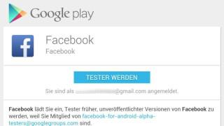 Neue Facebook-App installieren: Abschließend gilt es nur noch die Facebook-App über Google Play herunterzuladen und zu installieren.