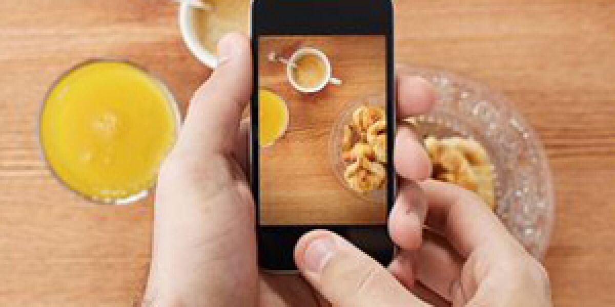 Smartphone macht Foto