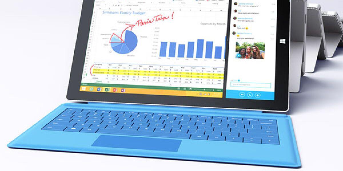 Das Microsoft-Tablet Surface Pro 3 ist größer, dünner und leichter als der Vorgänger – und soll Notebooks überflüssig machen.