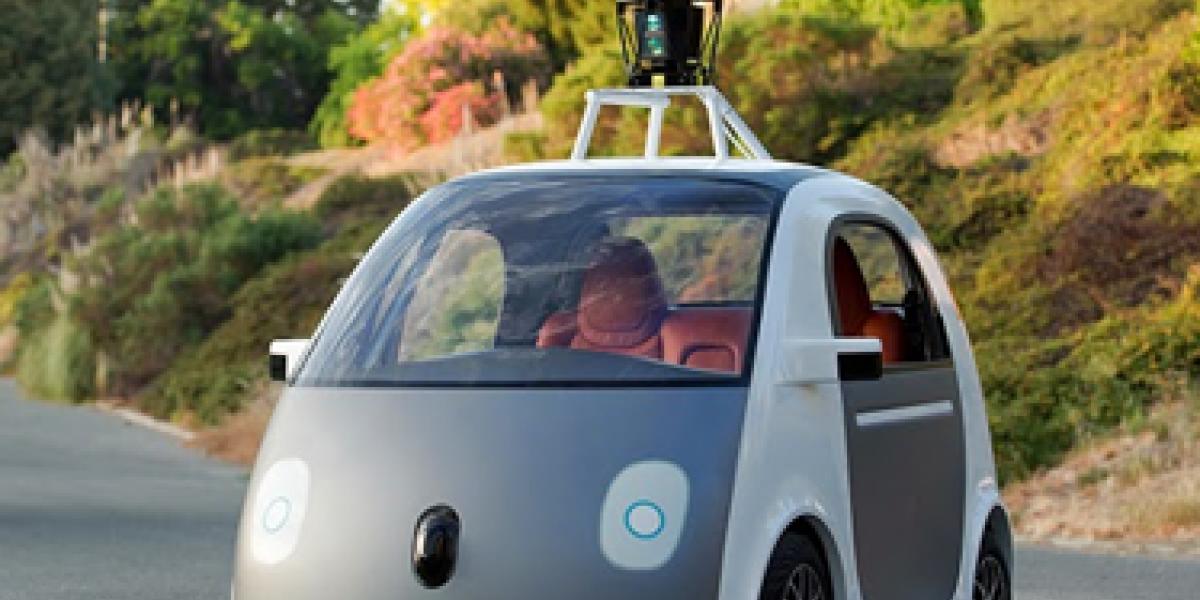 Einsteigen, anschnallen und losfahren: Google hat ein selbstfahrendes Auto ohne Lenkrad, Gas- und Bremspedal vorgestellt. Der Zweisitzer erledigt alles von selbst.