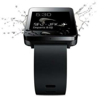 Die LG-Uhr soll bis zu 30 Minuten unter Wasser aushalten, vorausgesetzt, sie wird nicht tiefer als einen Meter untergetaucht.