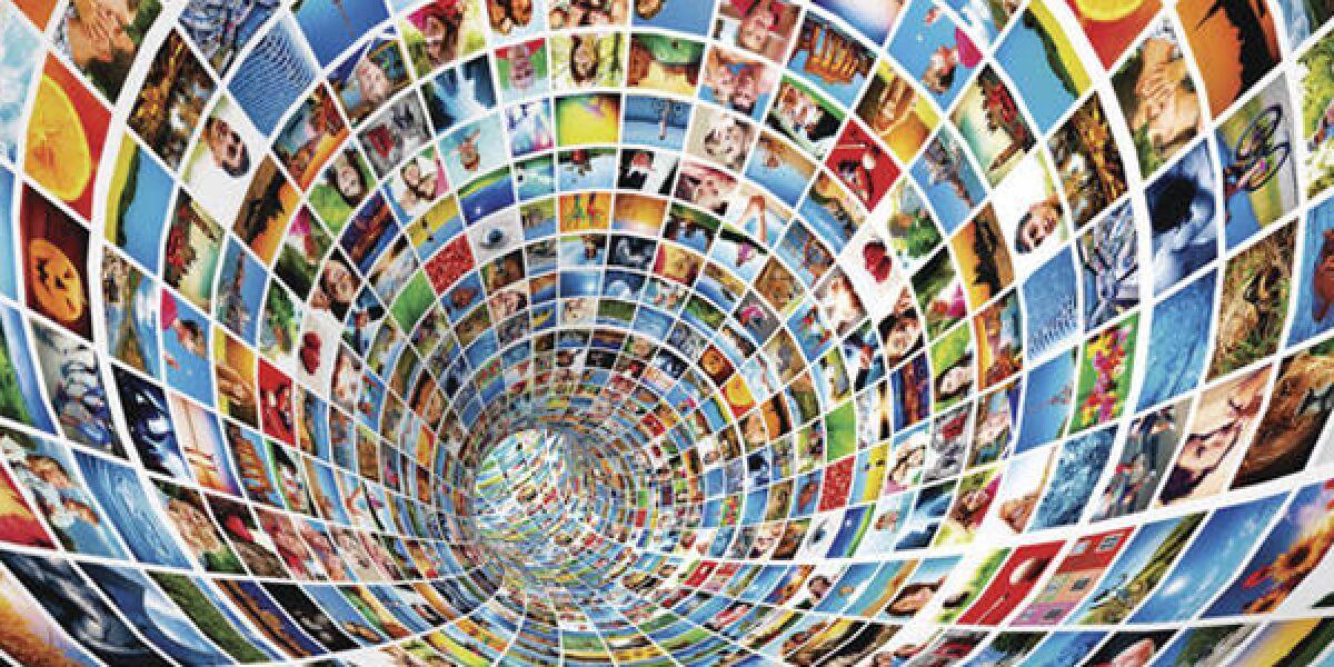 Tunnelröhre die aus Bilder gemacht wurde