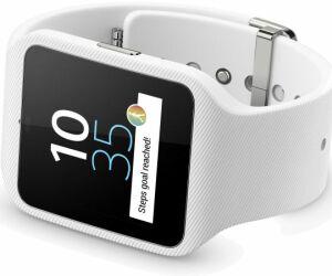 Sony SmartWatch 3 SWR50 - Die neue SmartWatch von Sony nutzt jetzt Android Wear. Die wasserdichte Uhr lässt sich per Sprache steuern, verfügt über einen GPS-Empfänger und dient in Verbindung mit einem Headset auch als Musik-Player.