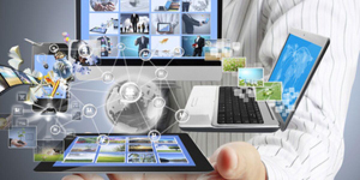Multiscreen Geräte auf einer Hand