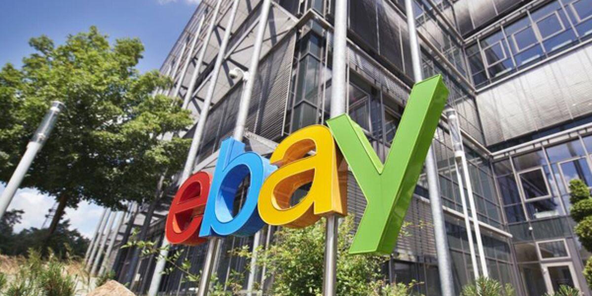 ebay Logo Außenaufnahme