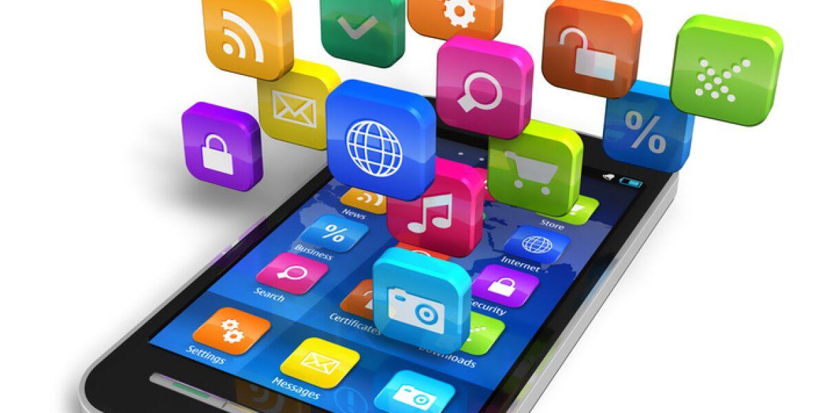 Apps auf einem Smartphone