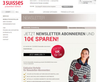 Webseite 3suisses