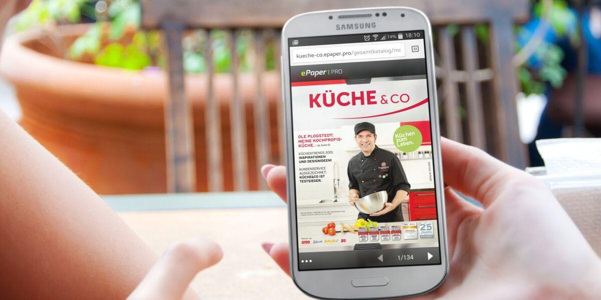 Küche und Co App auf dem Smartphone betrachten