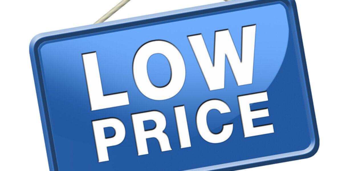 Schild mit Low Price Aufschrift