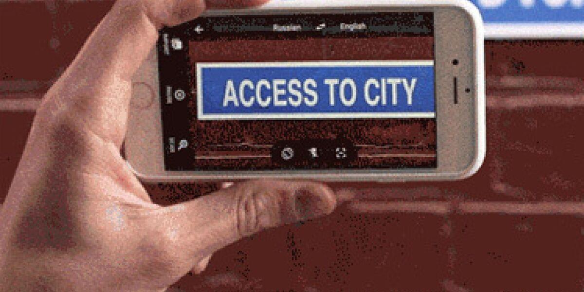 Google Translate auf dem Smartphone