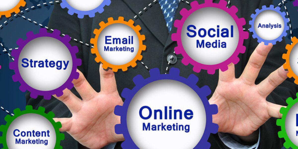Chart mit Begriffen aus Online Marketing