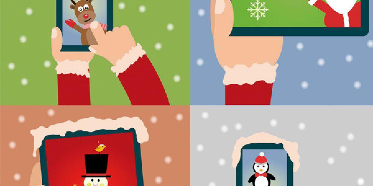 Smatphone Tablett Weihnachten