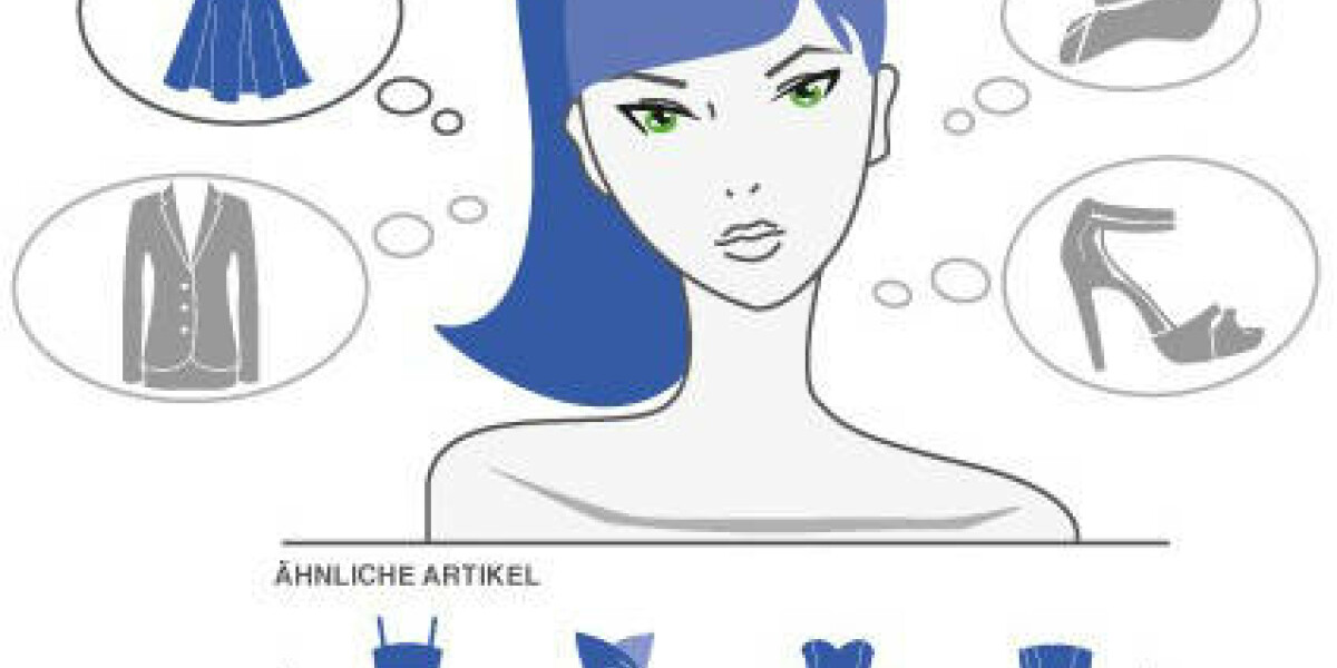 Frau sucht blaues Kleid