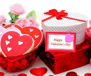 Geschenke in Herzform