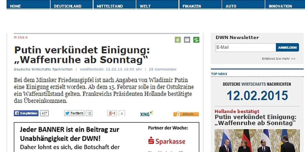 """""""Deutsche Wirtschafts Nachrichten"""""""