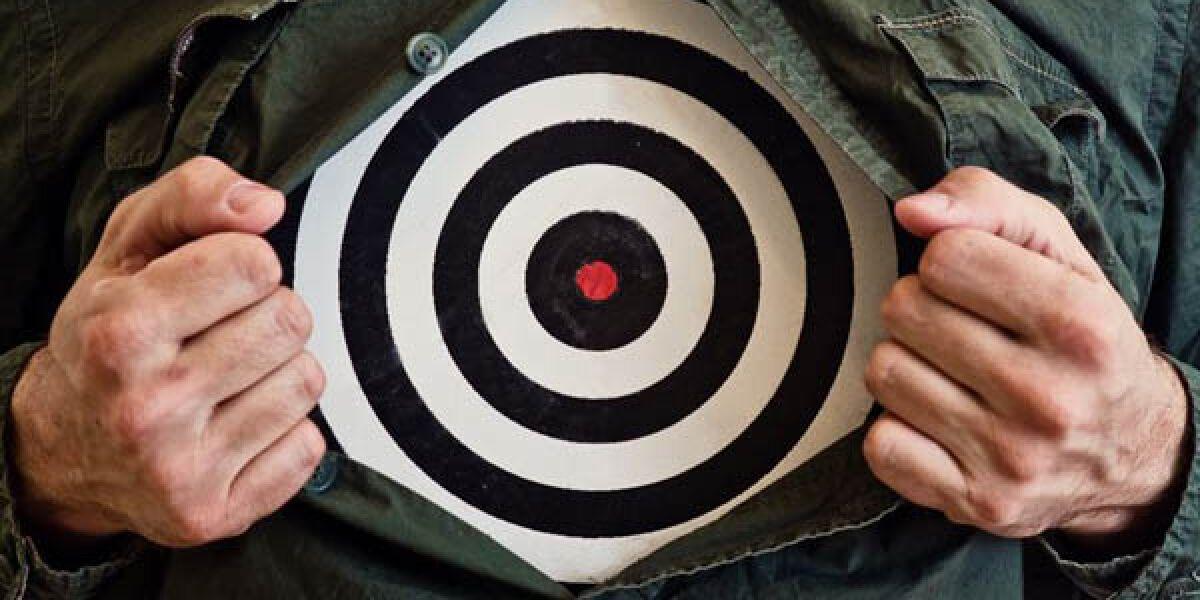 Zielscheibe symbolisiert Targeting
