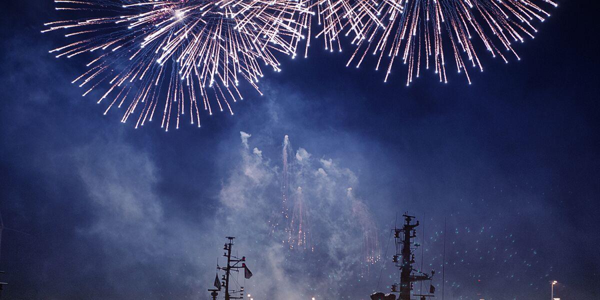 Hamburger Hafen Feuerwerk