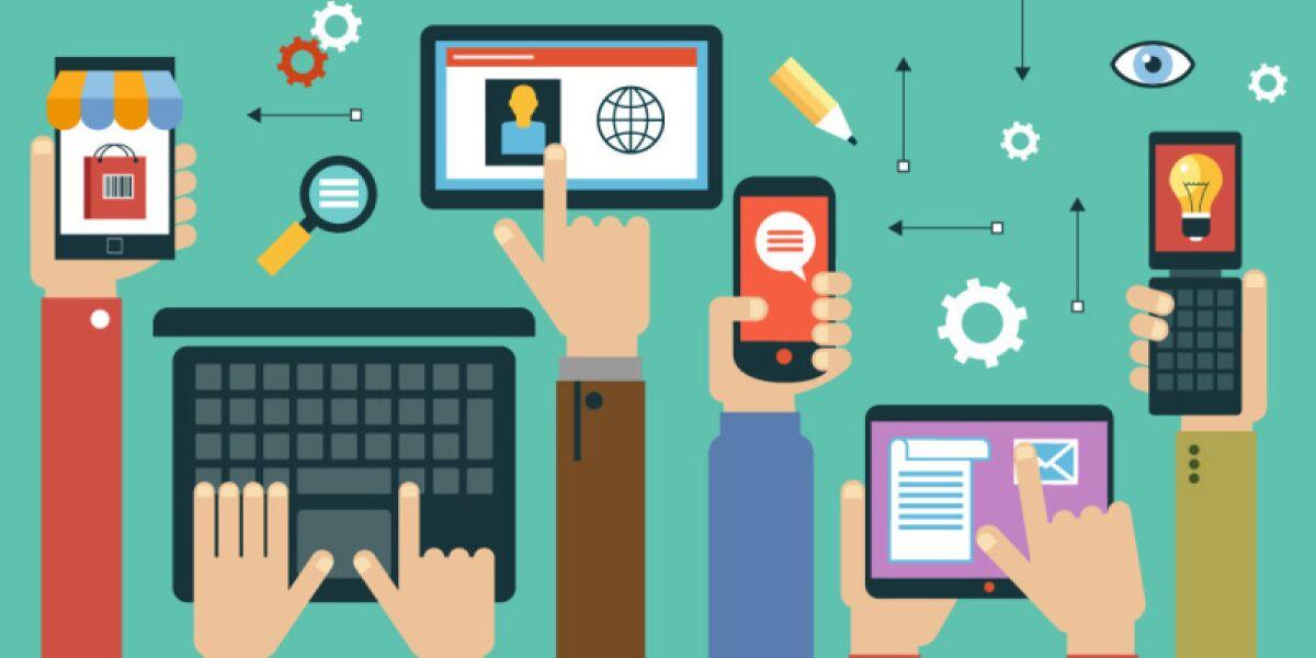 Internettechnik Illustration