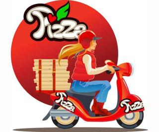 Lieferdienst Pizza Mofa