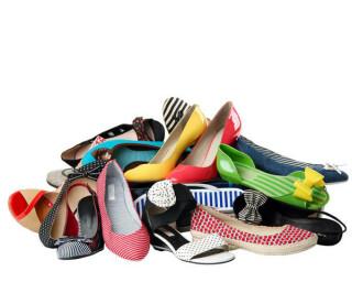 Schuhhaufen