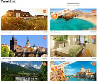 Travelbird Webseite