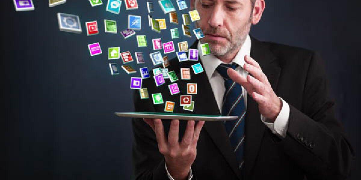 Apps auf einem Tablet
