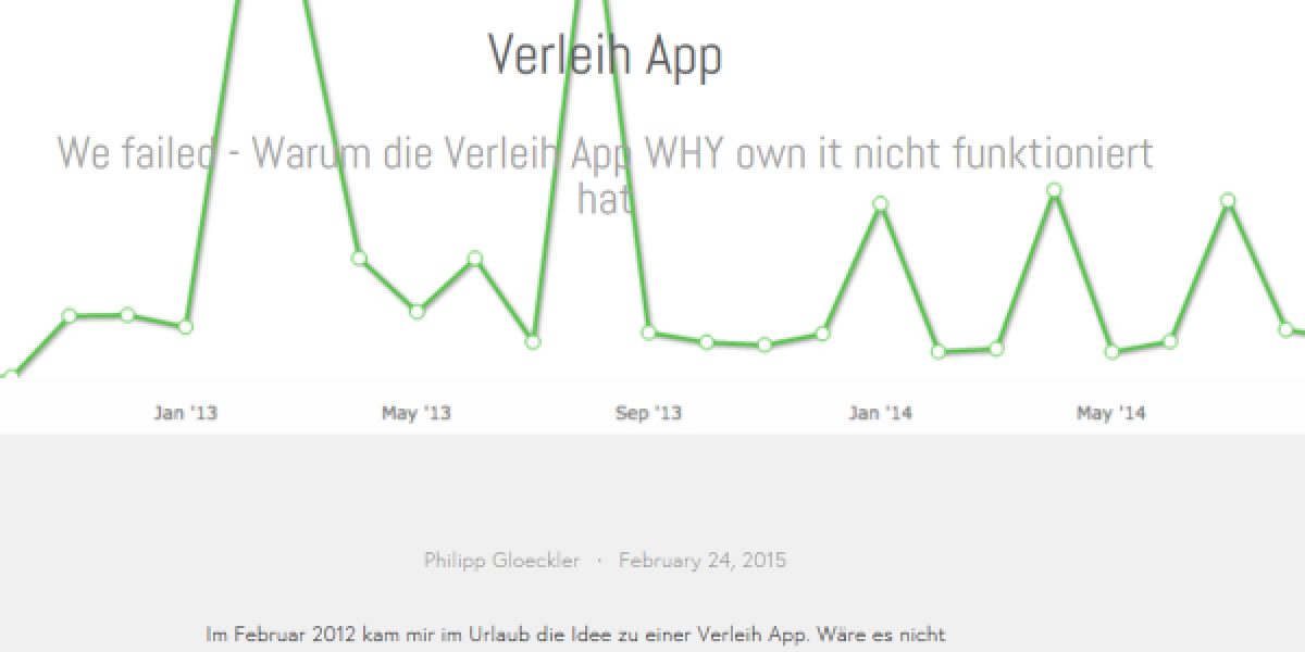Download-Statistik der Whyownit-App