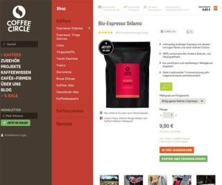 Screenshot Coffeecircle.com