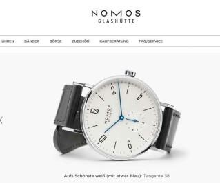 Screenshot Nomos-store.com