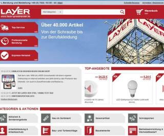 Screenshot Layer-grosshandel.de