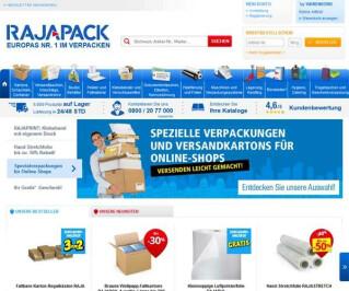 Screenshot Rajapack.de