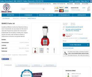 Screenshot Blaueolive.de