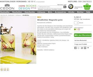 Screenshot Cedon.de