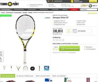 Screenshot Tennis-point.de