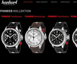 Screenshot Hanhart.com