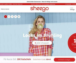 Screenshot Sheego.de