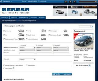 Screenshot Beresa.de