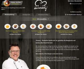 Screenshot Dinnery.de