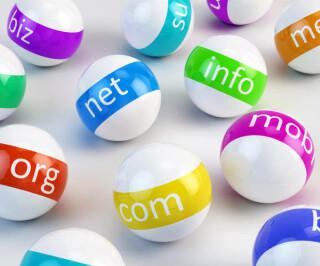 Verschiedene Top-Level-Domains