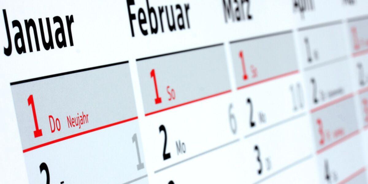 Kalender mit Tagen