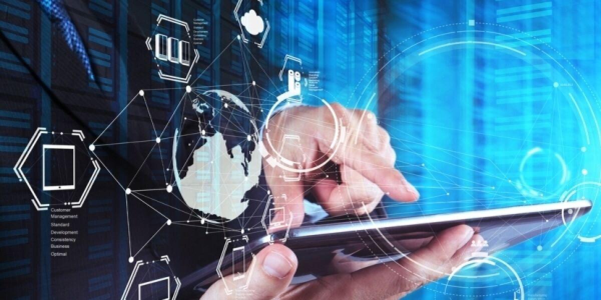 Digitalisierung Tablet Hände Icons