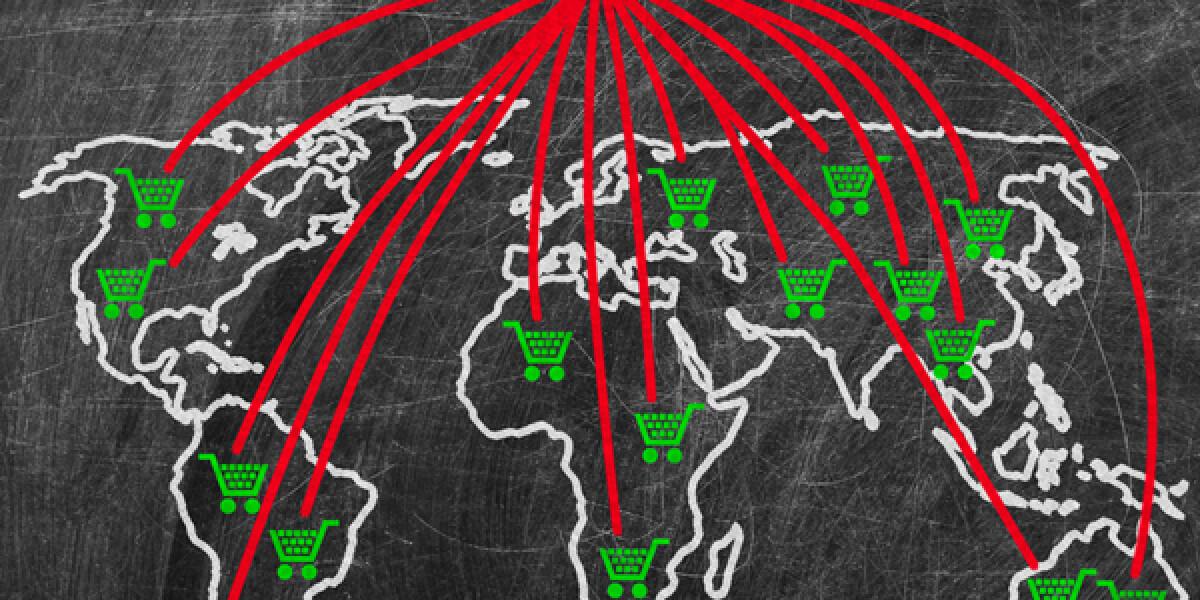 Weltkarte E-Commerce