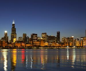 Chicago Skyline bei Nacht