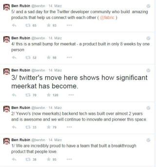 Timeline aus Tweets von Ben Rubin