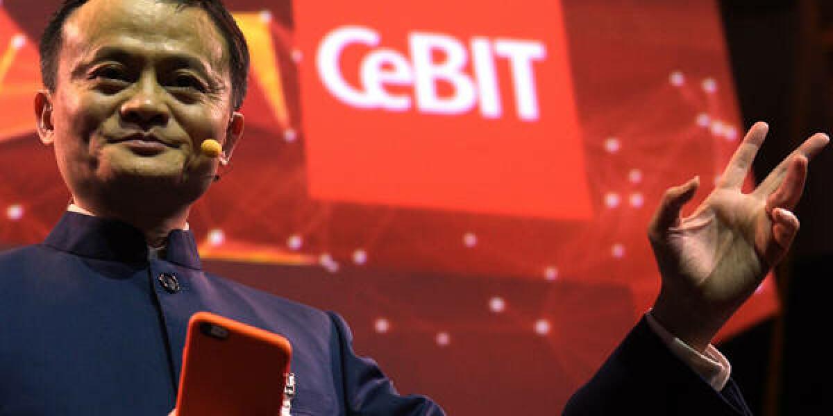 Jack Ma auf der CeBIiT