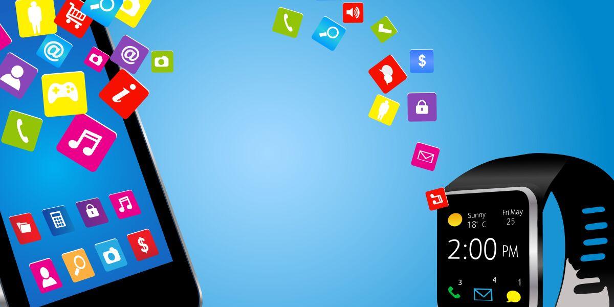 Smartphone und Smartwatch